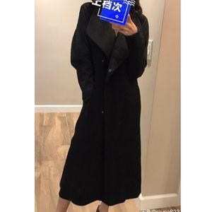 Theory wool/ leather coat